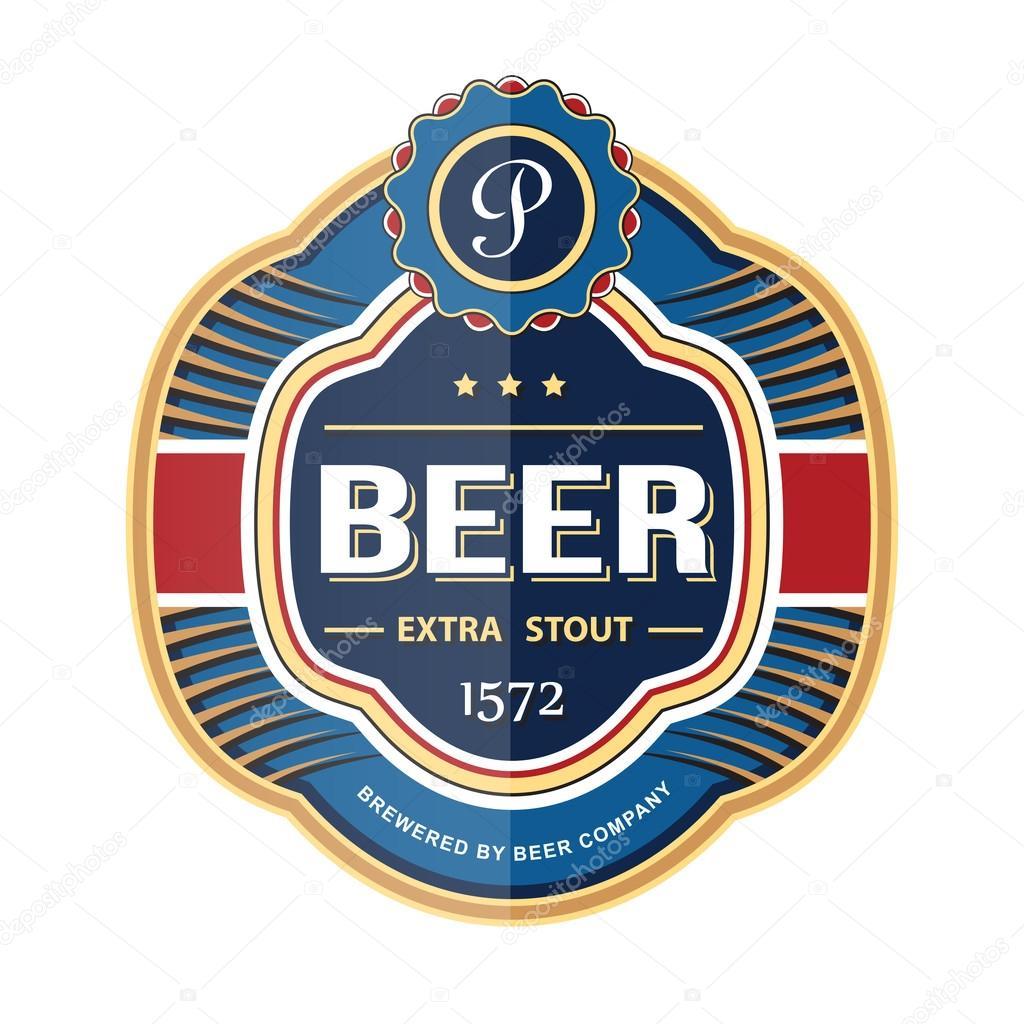 Grünes Bier Flasche Etikett Vorlage — Stockvektor © frbird #49804025