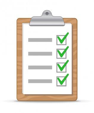 Clipboard and checklist