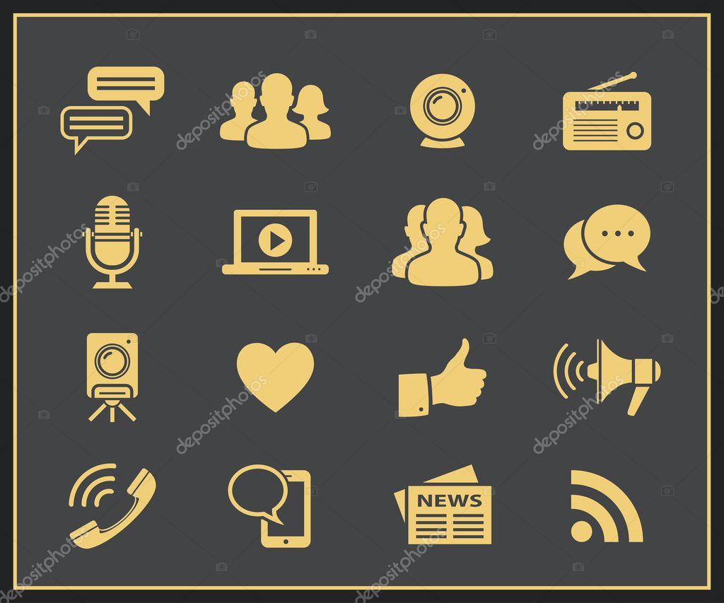 Média a sociální ikony
