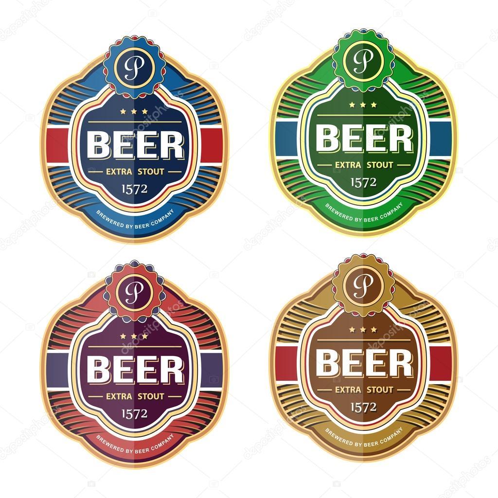 Grünes Bier Flasche Etikett Vorlage — Stockvektor © frbird #51165711