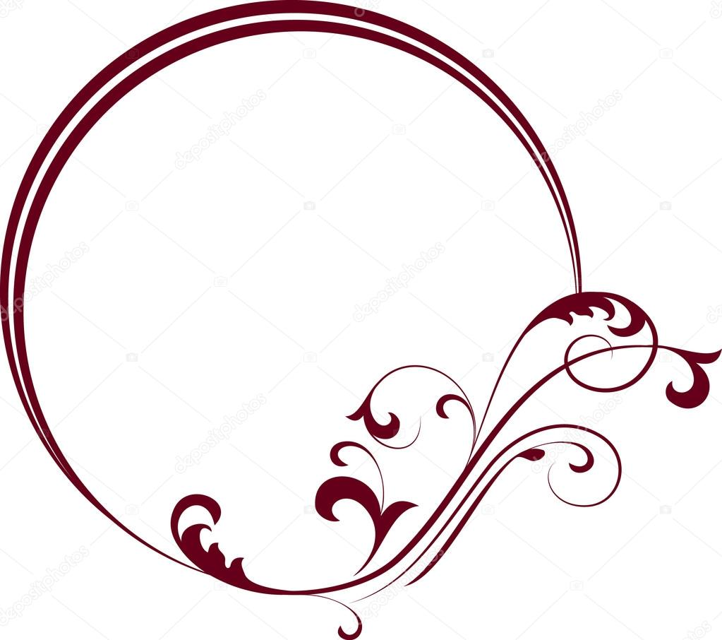 Round frame with decorative branch vector illustration stock - Decorative Oval Frame With Decorative Branch Stock Vector 12674823
