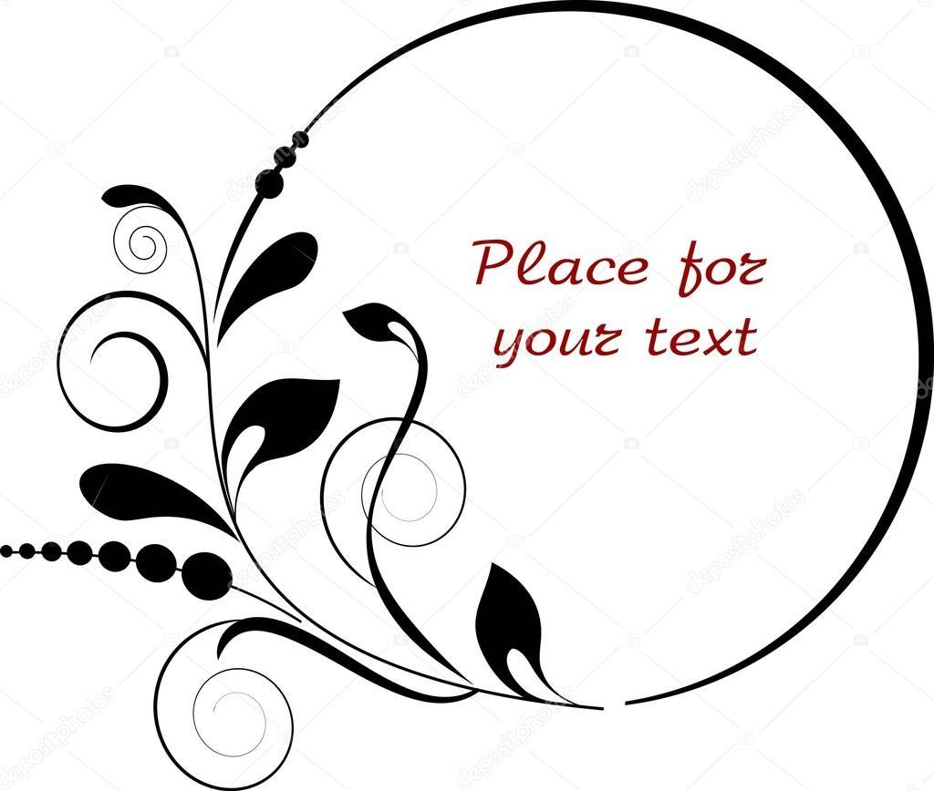 Marcos decorativos ovales con ramas - elemento de diseño — Vector de ...