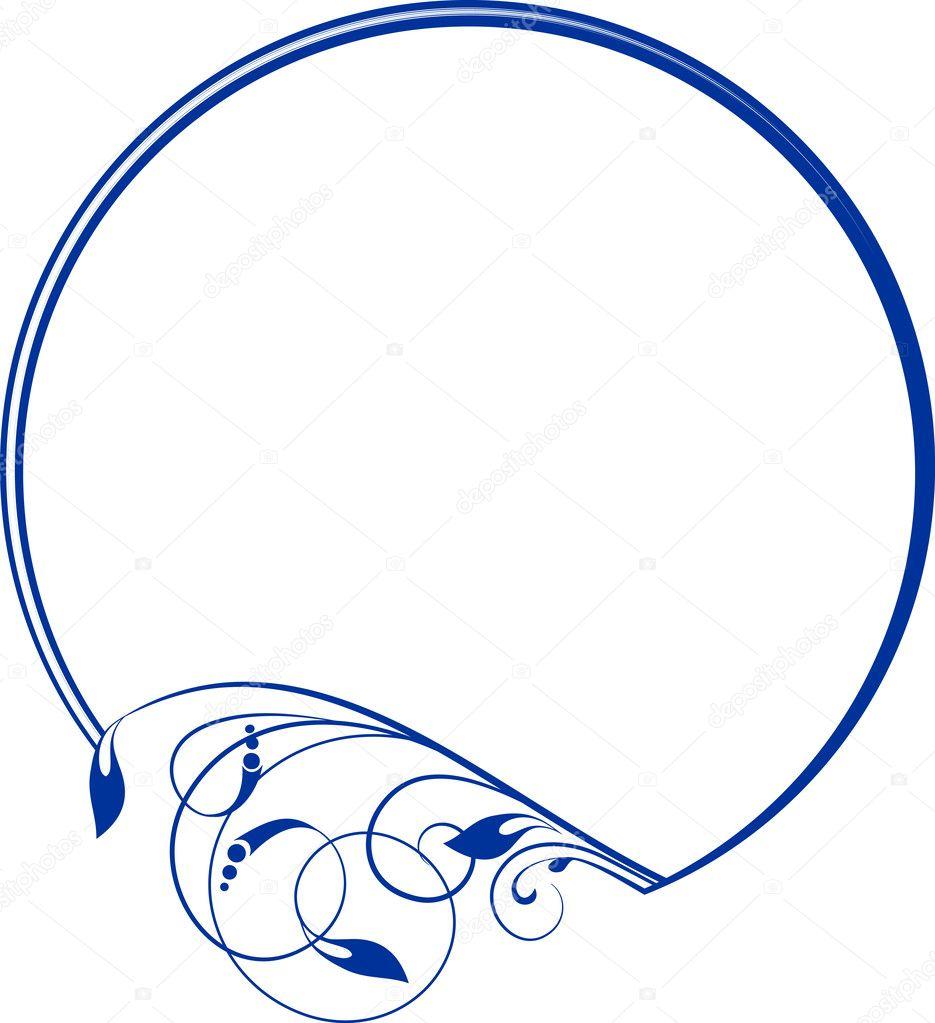 Oval Frame Design Decorative Oval Frame For Design In Vintage Styled ...