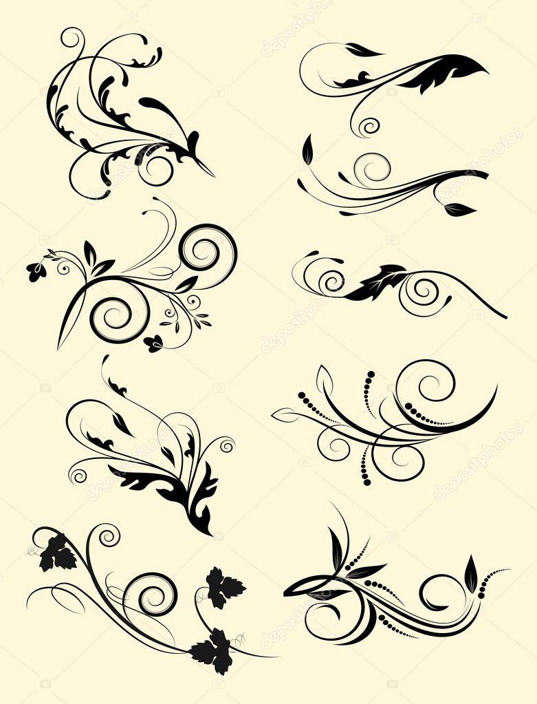 Conjunto de elementos decorativos para editar y dise ar for Conjunto de espejos decorativos