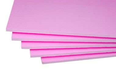 Styrofoam tables pile corner, construction materials stock vector