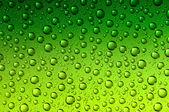 Zelené vodní kapky