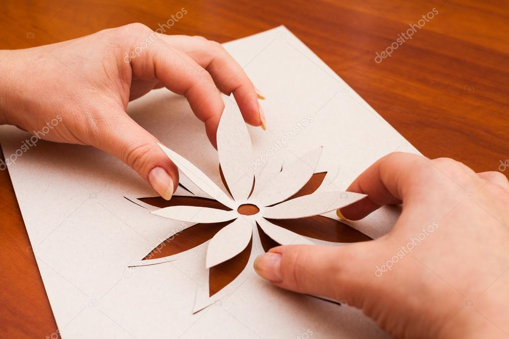 Making Flower From Paper Stock Photo Djemphoto 35216915
