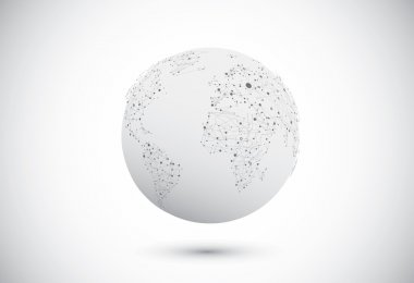 Modern globe connections network design. Vector illustration stock vector