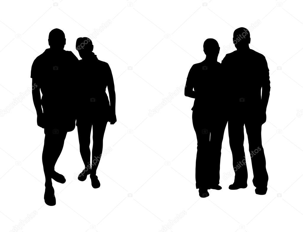 Silueta Hombre Y Mujer: Imágenes: Mujer Y Hombre