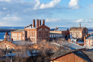 View on Zhiguli Brewery in Samara, Russia. Was founded in 1881