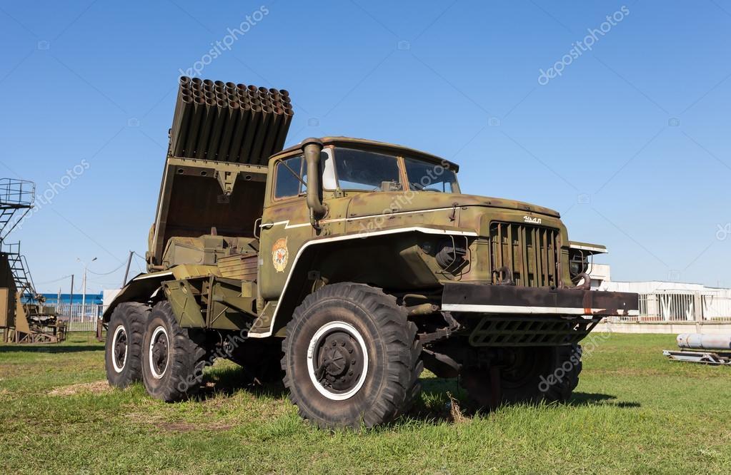 TOGLIATTI, RUSSIA - MAY 2, 2013: BM-21 Grad 122-mm Multiple Rock
