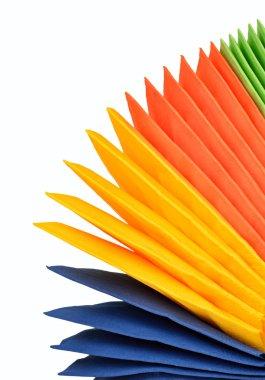 Colorful paper napkins