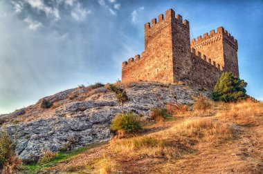 Tower of Genoa fortress in Sudak Crimea