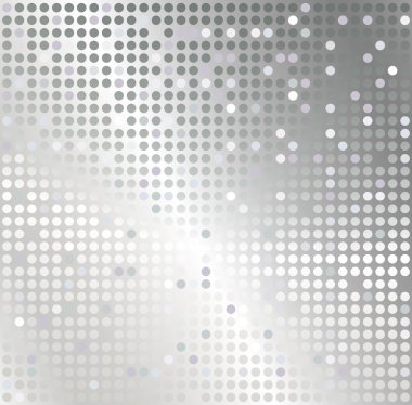 Silver mosaic abstract background