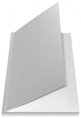 White open book front page