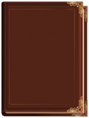 Brown closed book