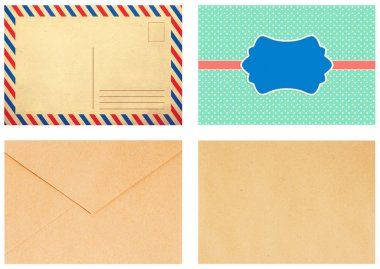 Colorful envelope, vintage style, trend stock vector