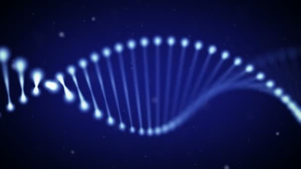 Animated DNA chain.