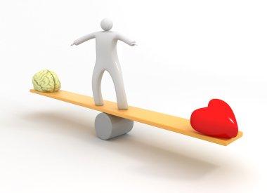 Heart vs Mind stock vector
