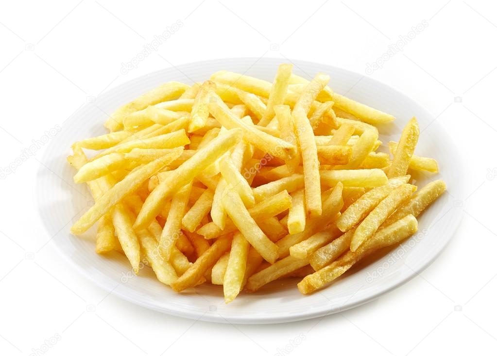 plate of french fries potatoes