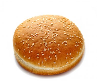 Burger bread on a white background stock vector