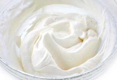 bowl of whipped cream