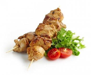grilled pork meat kebab