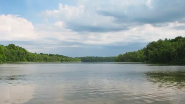 a tóra, a timelapse felhők