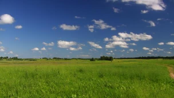 krajina, modrá obloha, timelapse