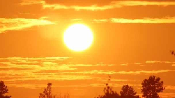 při západu slunce obloha, timelapse