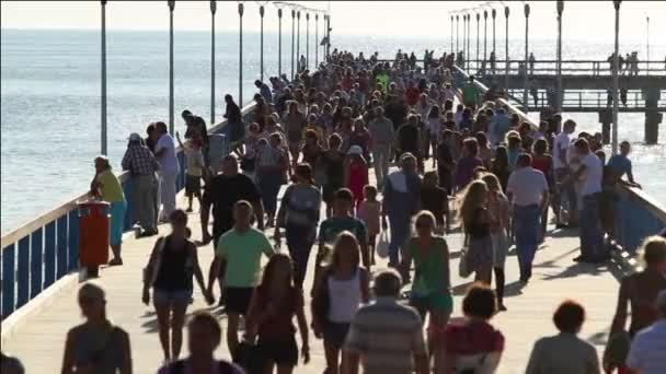 crowded pier