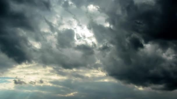 Bouřková mračna, time-lapse