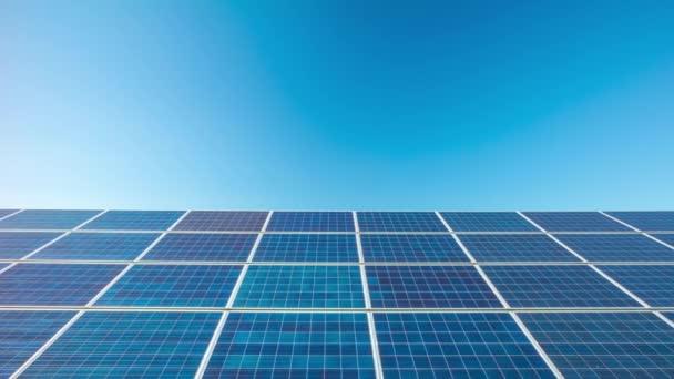 solární panely, dolly time-lapse