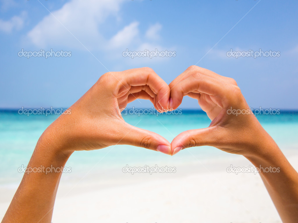 Heart shape against a beautiful blue sky