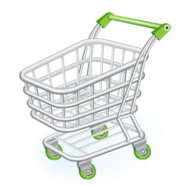 Shopping cart stock vector
