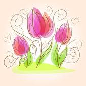 roztomilý květinovým kartu
