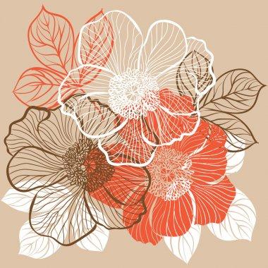 """Картина, постер, плакат, фотообои """"цветочный фон с цветами пиона постеры картины тюльпаны лотосы ретро"""", артикул 18892821"""