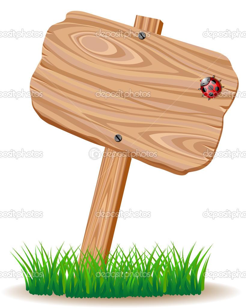 Letrero de madera vector de stock elenita 29712299 - Letreros en madera ...