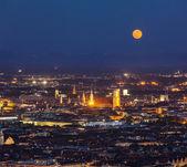 Nacht-Luftbild von München, Deutschland