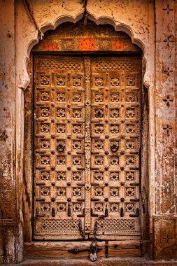 Wooden old door vintage background