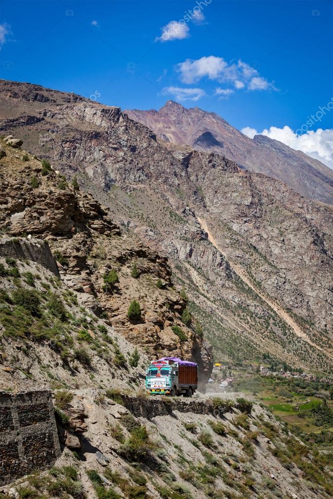 Manali-Leh road in Indian Himalayas