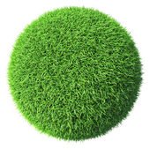 Green grass sphere isolated