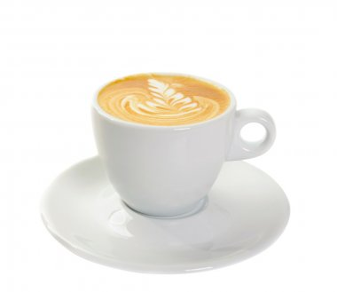 Cup with cappuccino