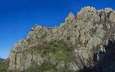 paesaggio autunnale con rocce
