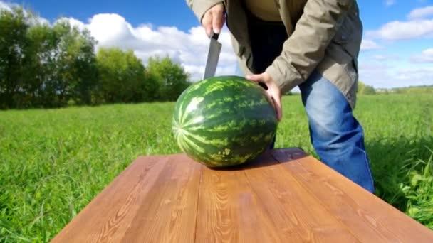 vágott érett görögdinnye