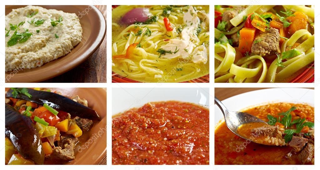 alimentos conjunto cozinha oriental — Fotografias de Stock © fanfon on