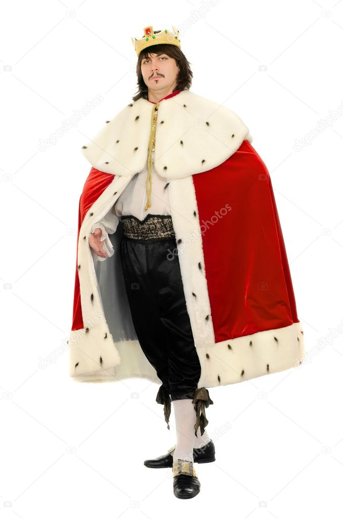 Man in the royal costume. Isolated