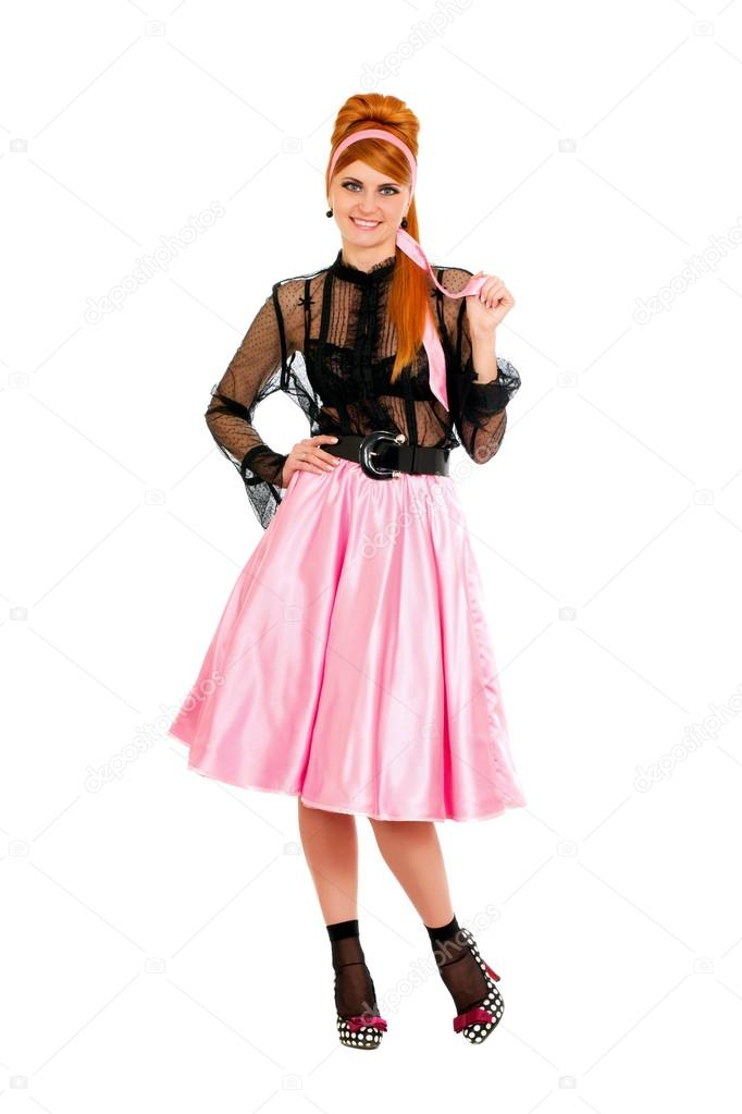 Jupe Dans Rose Jeune Femme Une w80PNXZnOk