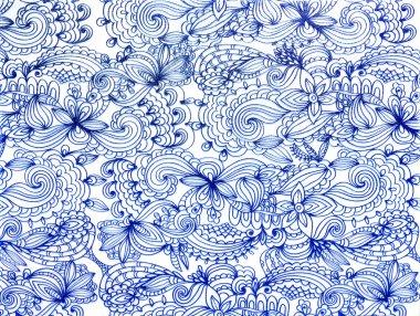 Blue lace pattern