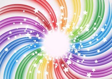 Transparent rainbow swirl